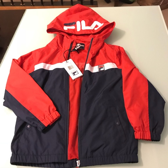 Fila boys light weight hooded jacket NWT NWT